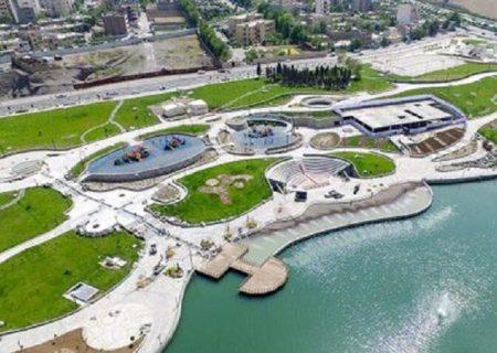 انتقاد از تخریب منطقه به بهانه ساخت پارک توسط شهرداری تبریز/ آبگیری دریاچه پارک بزرگ تبریز