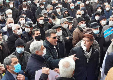 تجمع اعتراضی بازنشستگان در تبریز