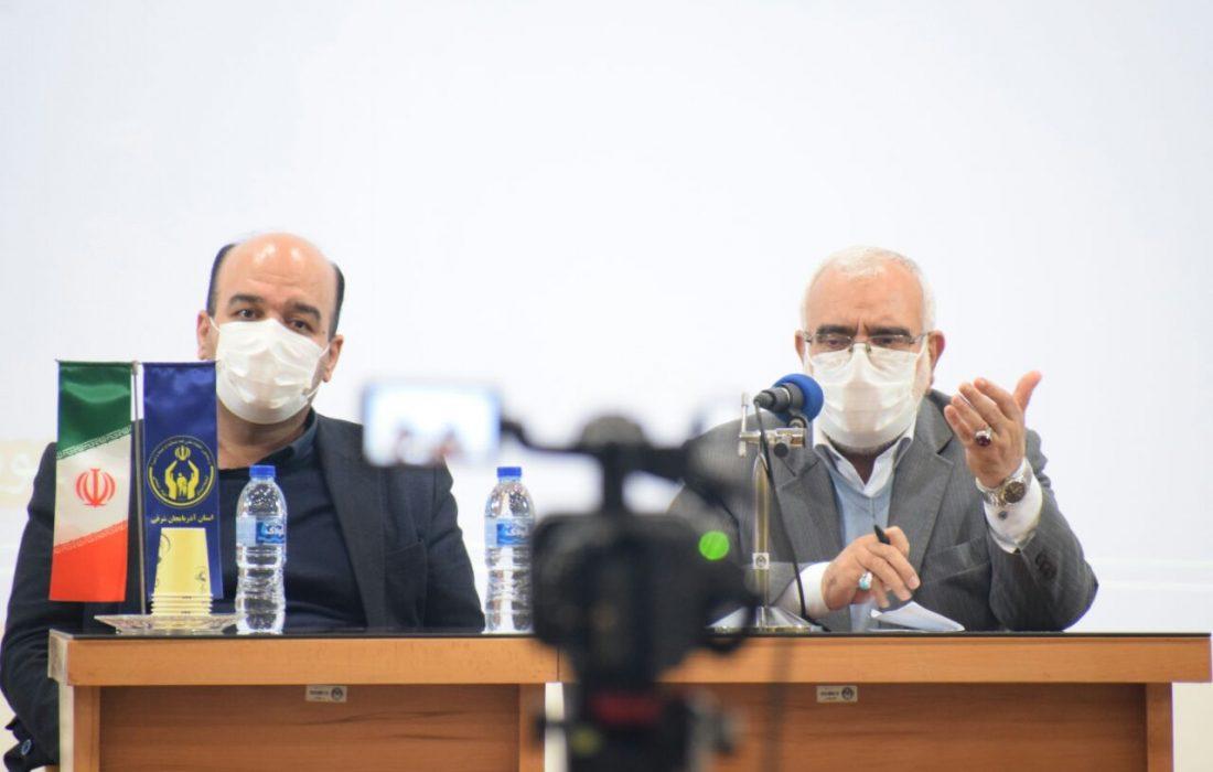 نشست مطبوعاتی رییس کمیته امداد کشور در تبریز